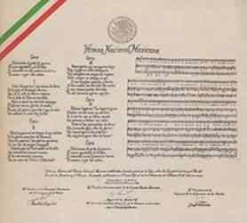 Letra del Himno Nacional Mexicano