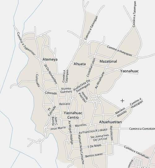 Vista panorámica de las calles del centro del municipio
