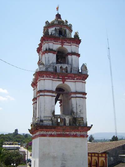 Torre de la iglesia de Yaonáhuac
