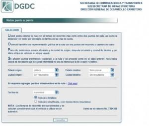 Dirección General de Desarrollo Carretero de la Secretaría de Comunicaciones y Transportes