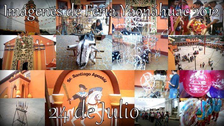 Primeras imágenes de la feria Yaonáhuac Puebla México, hoy 24de Julio. Para que se animen a visitar nuestro municipio