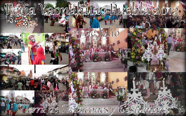 Imagénes de la Feria Yaonáhuac Puebla México, 25 de Julio.