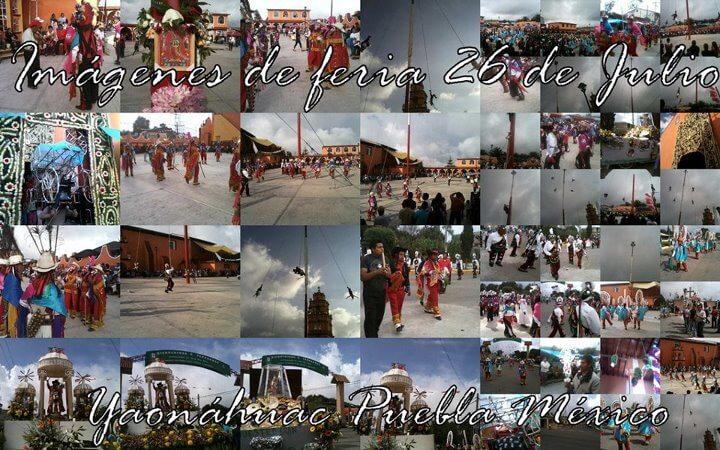 Imágenes de feria. hoy 26 de Julio de 2012. Yaonáhuac Puebla México. Esta por iniciar la última encamisada de feria.